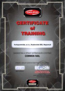 Certifikát Autopyramida